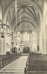 Interiör från Sankt Petri kyrka i Västervik.