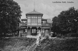 Lundholms Café, Ockelbo. Vykort inlånat från Margit Hedman.