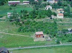 Flyfoto, Lillehammer, Vingnes. Nederst i venstre hjørne ses