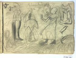 Adam og Eva [Tegning]
