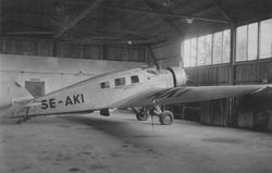 Civilt flygplan Junkers W 34ho märkt SE-AKI tillhörande Sven
