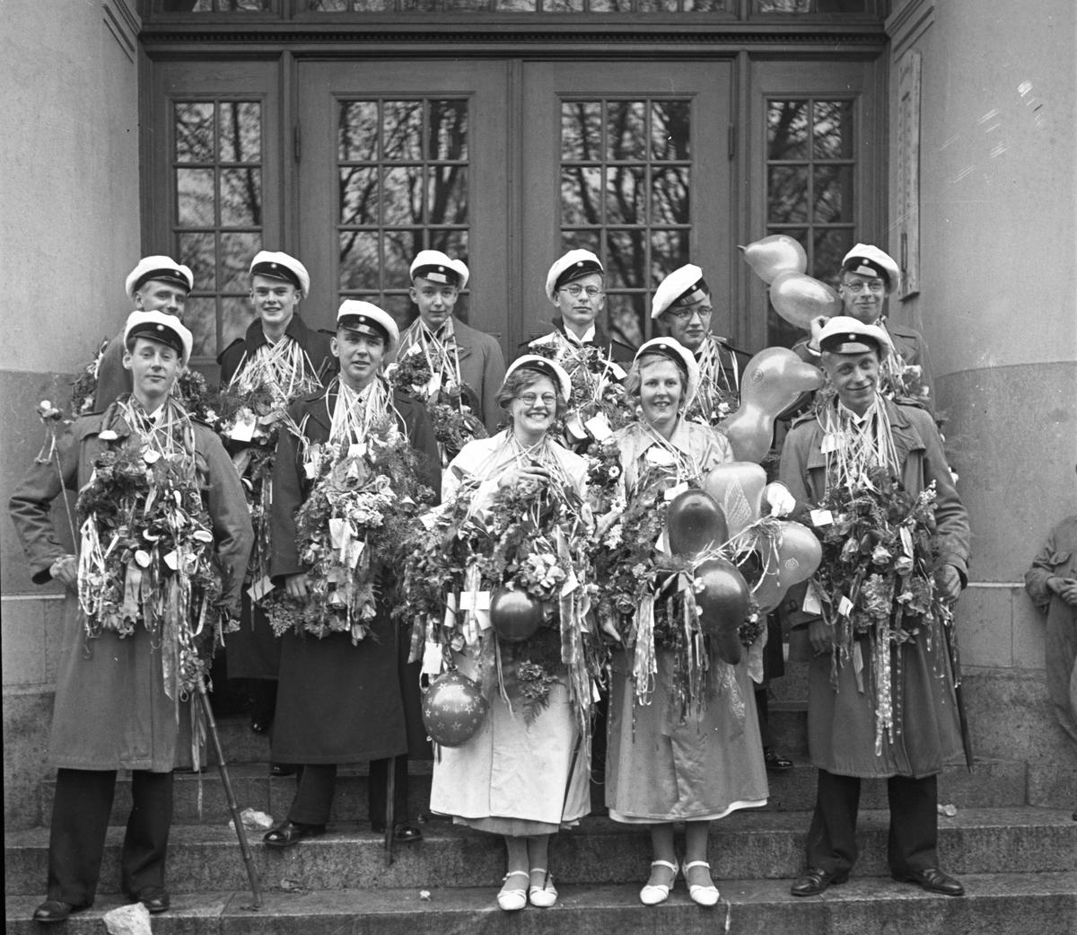 Studentexamen på Högre Allmänna Läroverket. Den 23 maj  1936