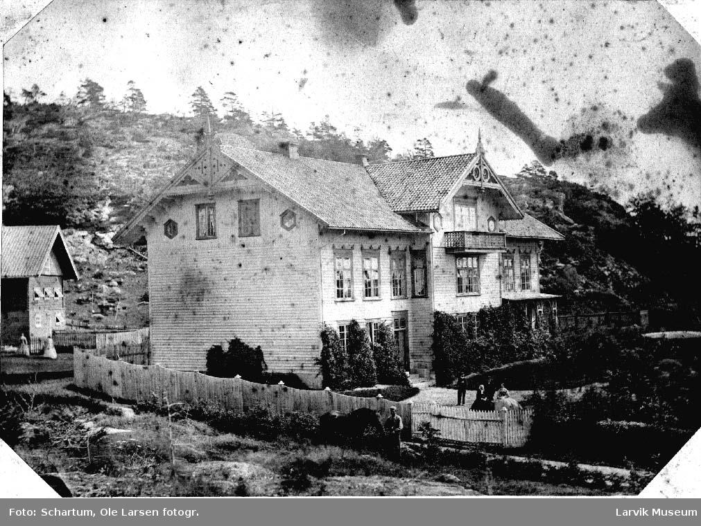 Hus, gård , hovedbygning, Tanum i Brunlanes, Larvik.