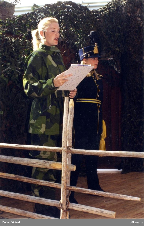 Frivilligförsvarets dag, militärmodevisn. A 6, 100 år i Jkpg.