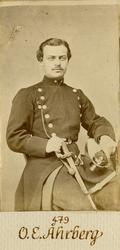 Porträtt av Otto Edvard Åhrberg, löjtnant vid Andra livgarde