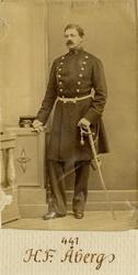 Porträtt av Hjalmar Fredrik Åberg, kapten vid Andra livgarde