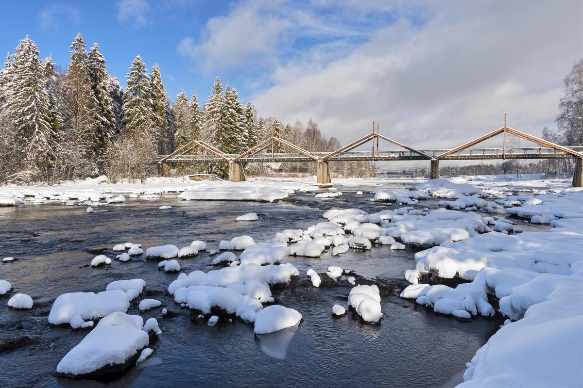 Vinterstemning ved Klokkerfossen. (Foto/Photo)