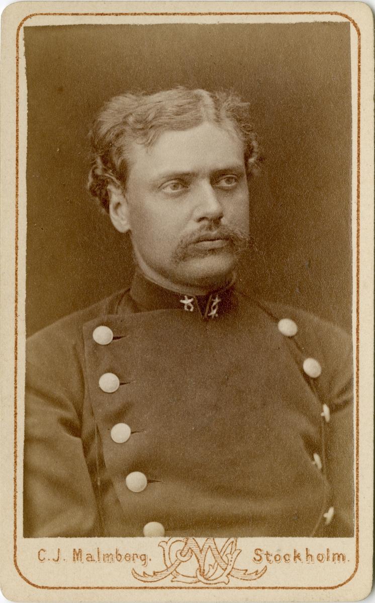 Porträtt av Frans Isak von Heland, löjtnant vid Svea livgarde I 1.