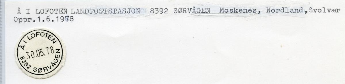 8393 Å i Loforten (Aa i Lofoten), Svolvær , Moskenes, Nordland