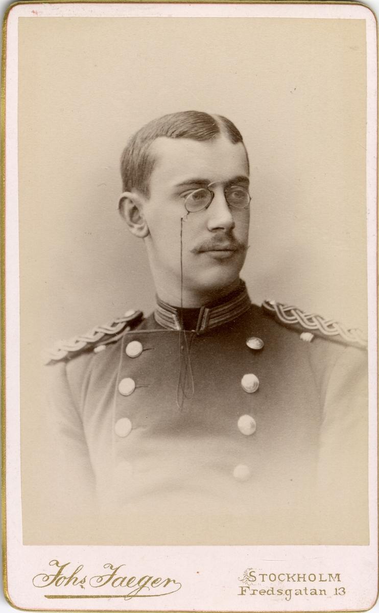 Porträtt av Bror Adam d'Orchimont, underlöjtnant vid Älvsborgs regemente I 15.