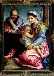 """Løten kirke, maleri av Selma Andersen. """"Den hellige familie"""
