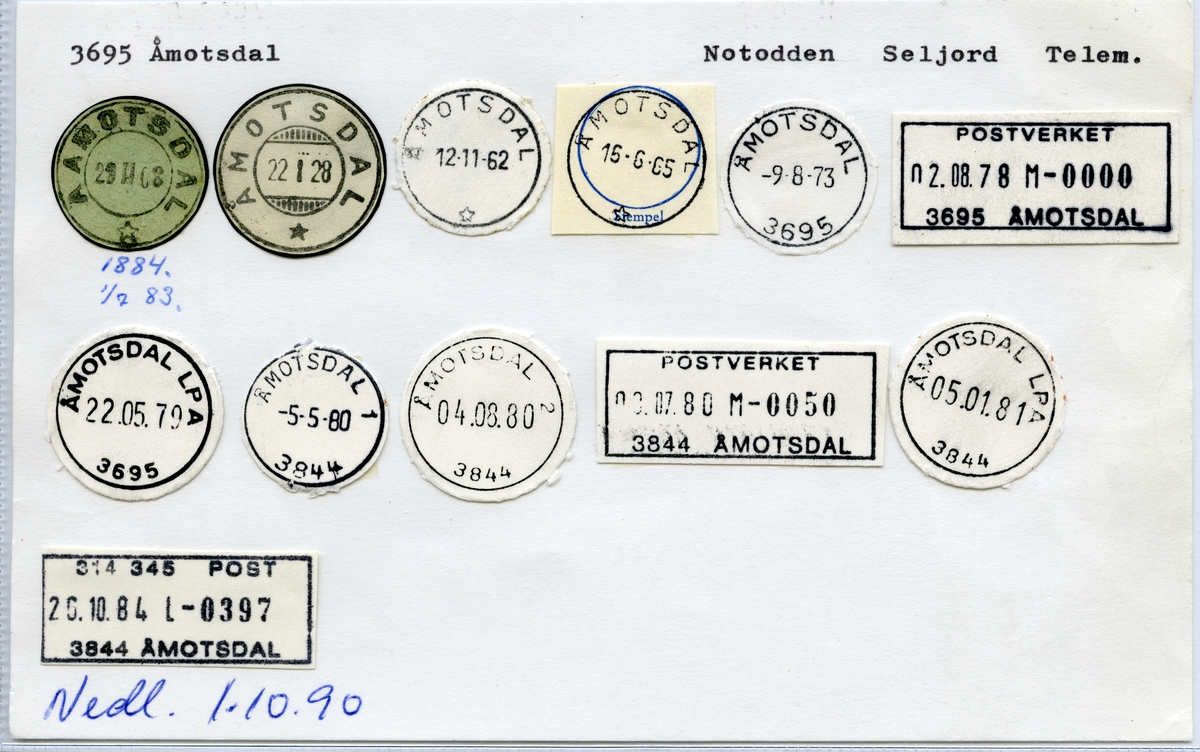 3695 Åmotsdal (Aamodtsdal, Åmotsdal), Notodden, Seljord, Telemark