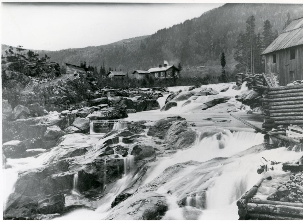 Hølerafossen ca. 1875.