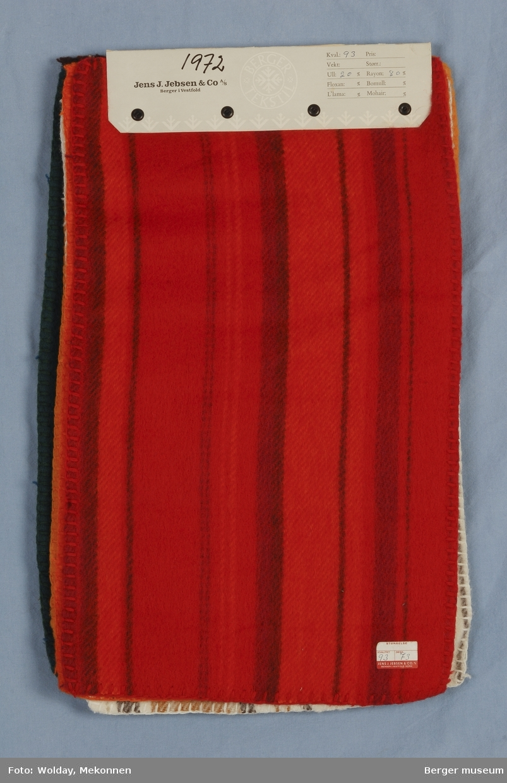 Pledd Prøvebok med 6 prøver Striper