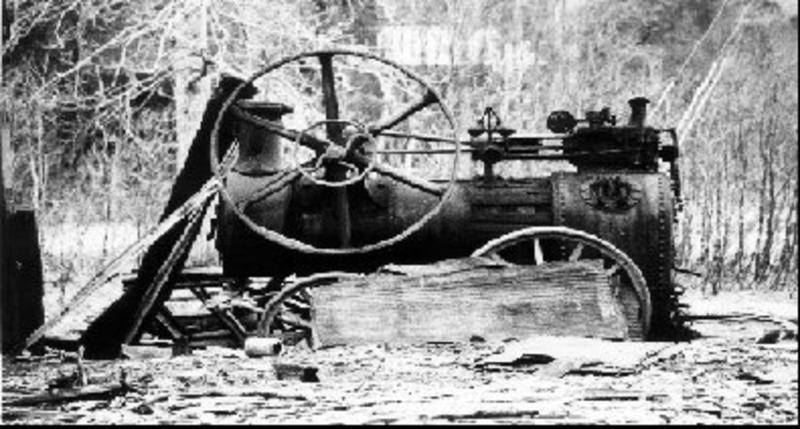 Dampmaskin brukt i Moskodalen.