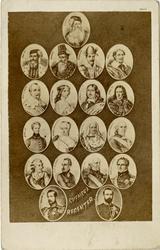 Porträtt av svenska regenter. från Gustav Vasa till Karl XV.