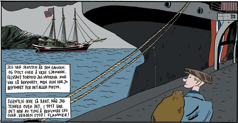 Skonnerten «Smart» tegnet inn tegneserien «Torpedert – dampskipet Gurres siste ferd».