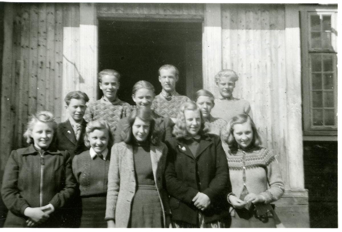 Sør-Aurdal framhaldsskule 1945-46.