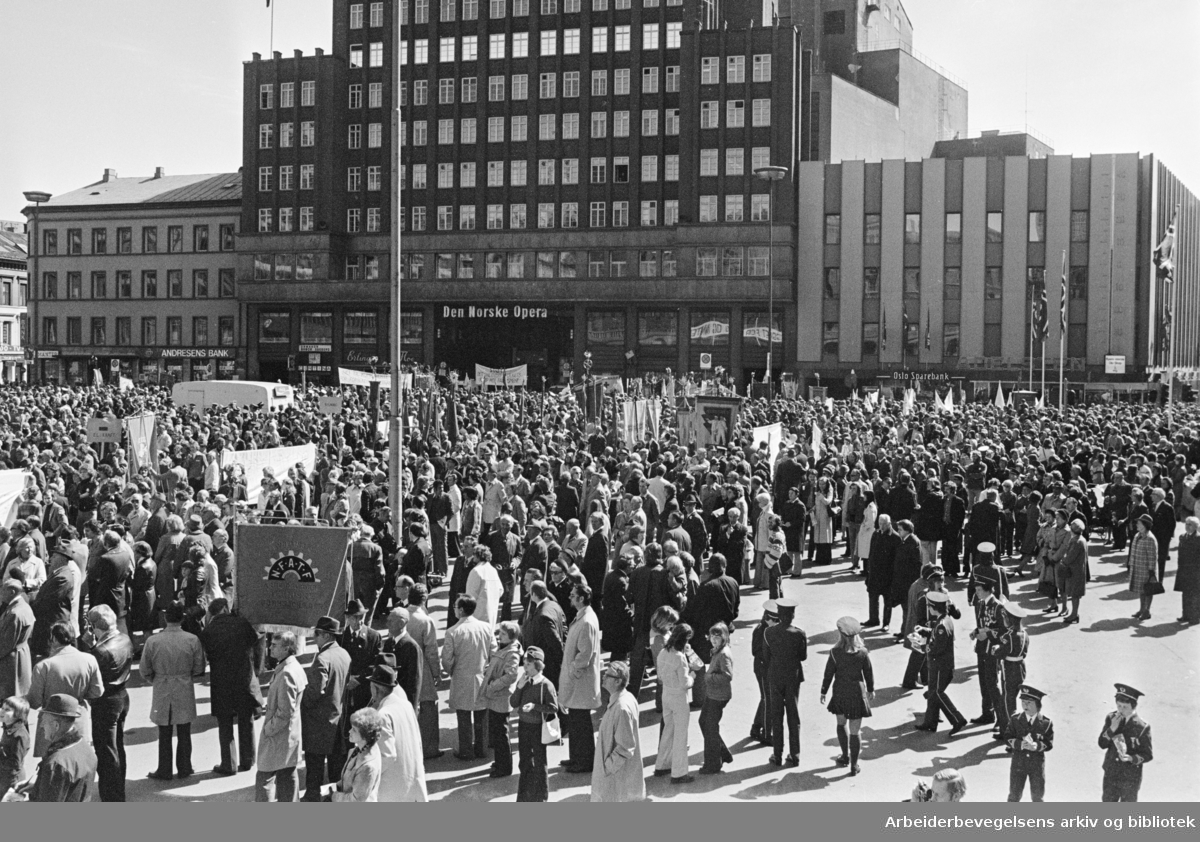 1. mai 1976, Youngstorget.