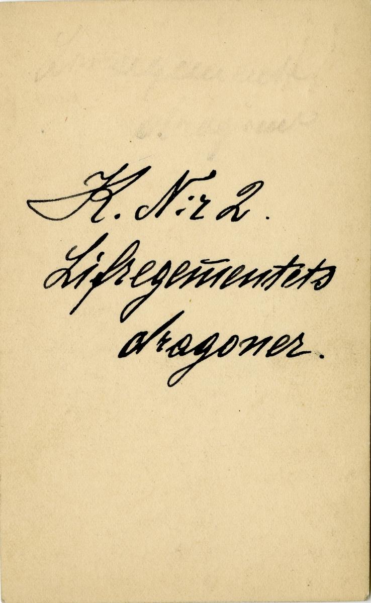 Porträtt av okänd officer vid Livregementets dragoner K 2.