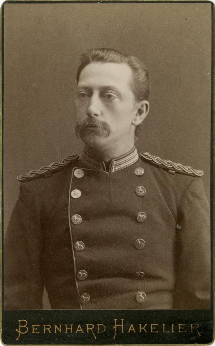 Porträtt av okänd officer vid Västgötadals regemente I 16.