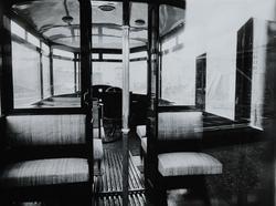 Berliet buss til Ekebergbanen, interiørbilde