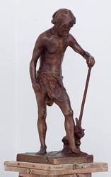 Mann med hakke [Statuett]