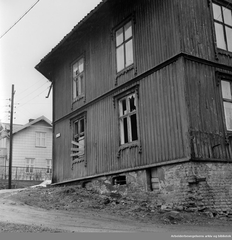 Solhauggata 6. Rodeløkka. April 1970