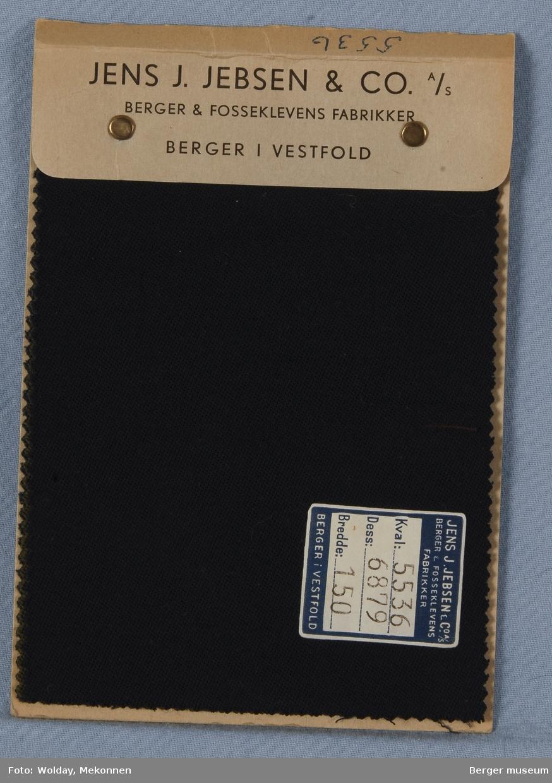Prøvehefte med 3 prøver Uniformstoff Ensfarget Polyster/ull Kvalitet 5536