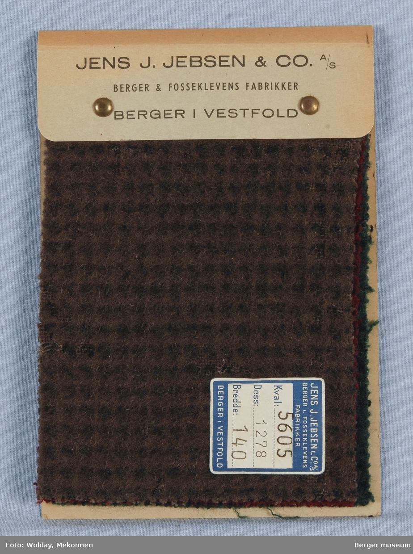 Prøvehefte med 3 prøver Stykkfarget Kvalitet 5605 Jakke/kåpe