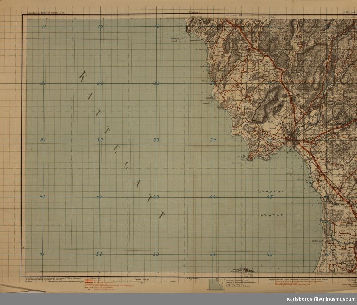 Generalstebens karta
