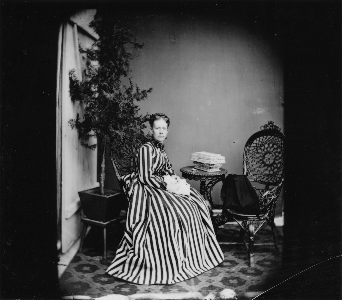 Möjligen bild tagen på fotografen Amanda Gussander. Tagen på 1860-talet. Foto: Amanda Gussander.