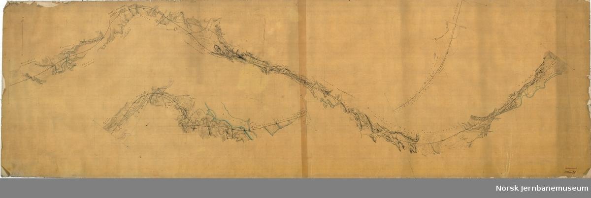 Oversiktskart NHJ 6-11 miles, Grorud-Strømmen (utekstet)