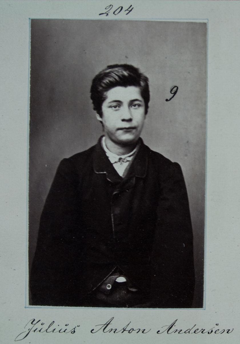 Fangeportrett, Julius Anton Andersen