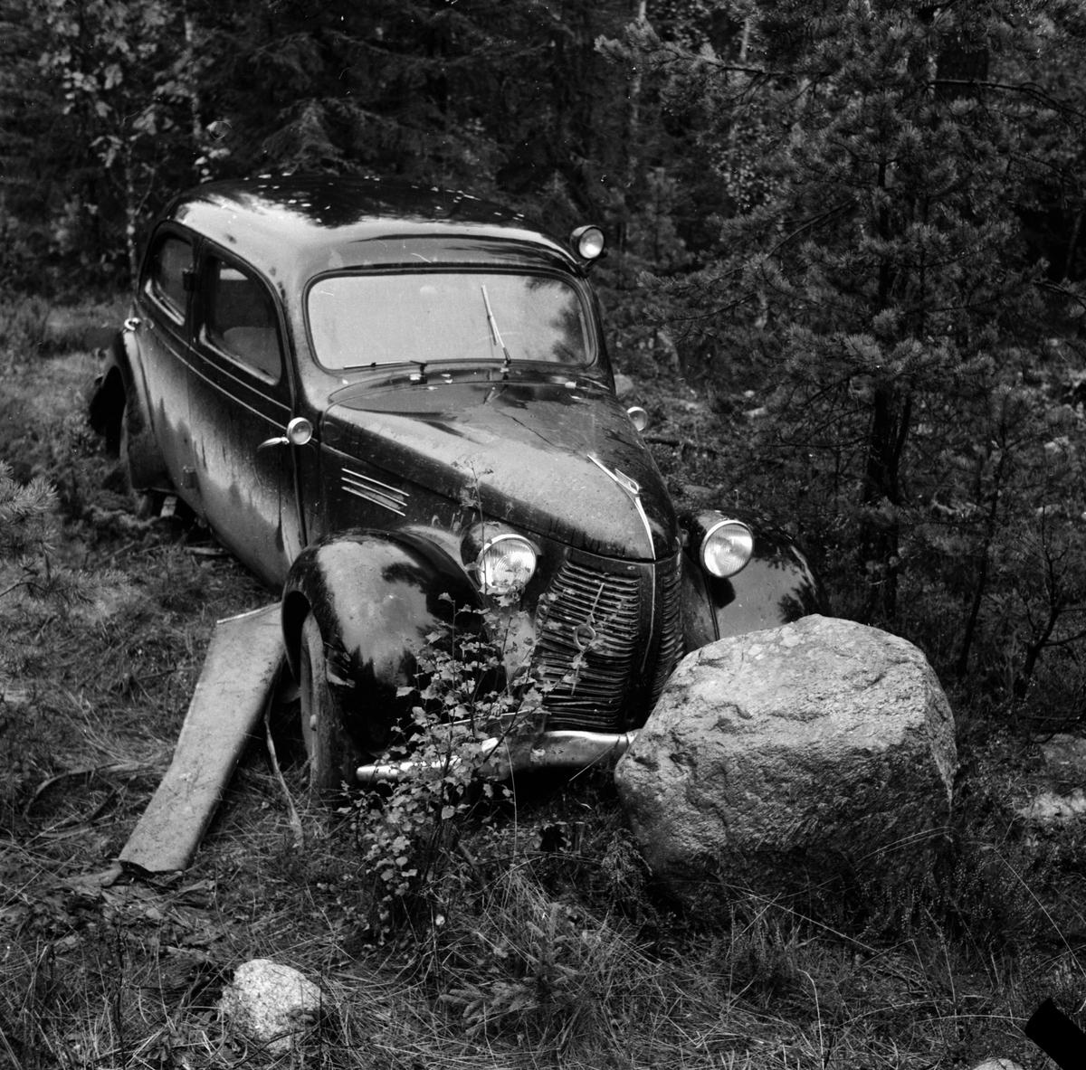 Havererad bil i Görtsbo. Bollnäs