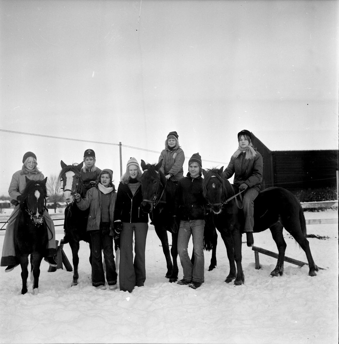 Koldemo, Ridskola, Per o Mari Eriksson, Januari 1973