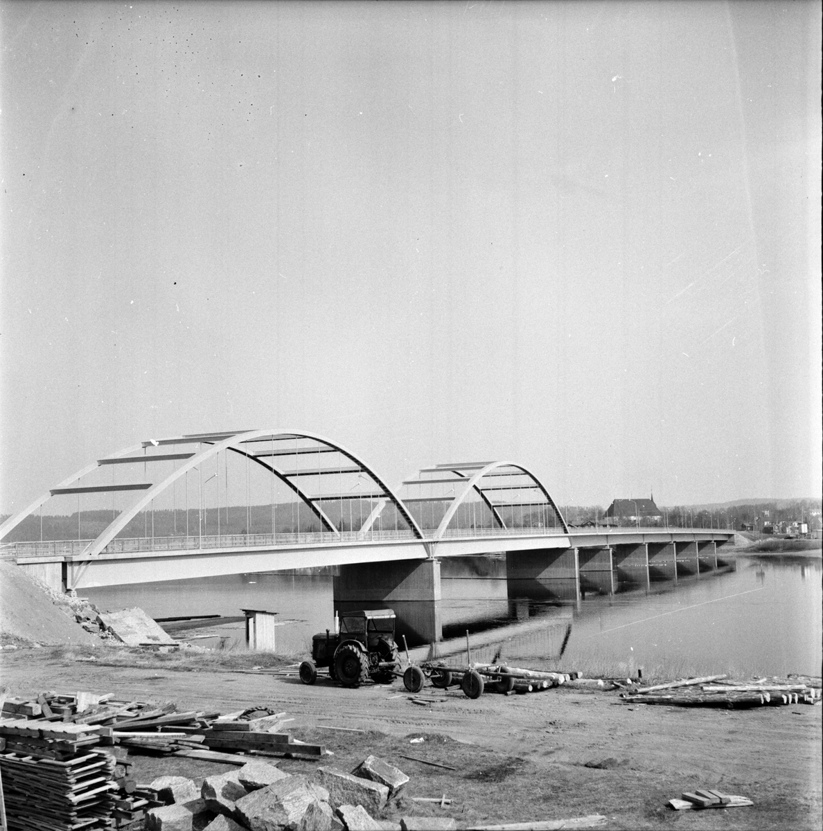 Ljusdal, Nya bron över Ljusnan, 22 April 1965