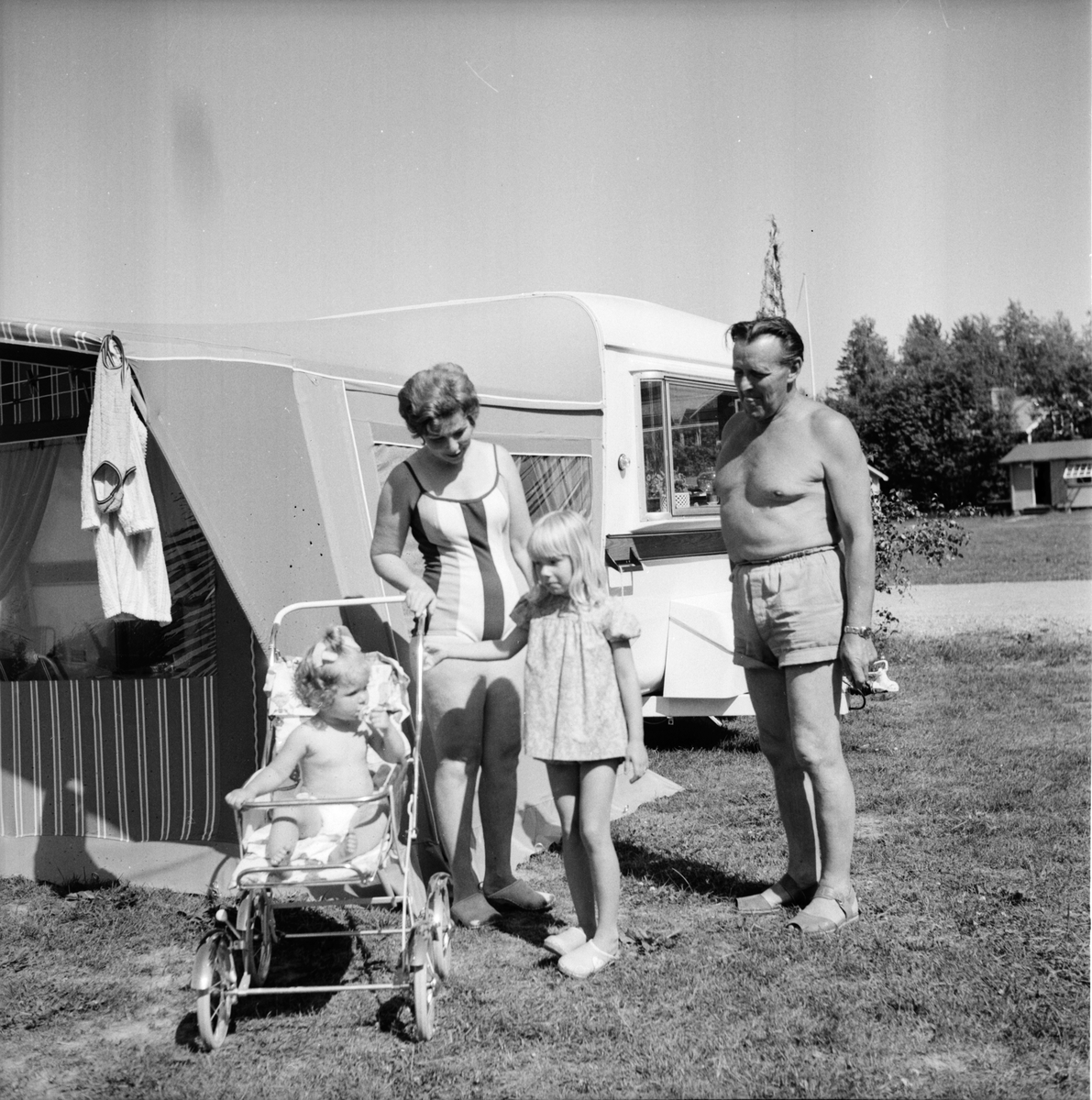 Orbaden, Makarna Nässtrand och campingplatsen, Juni 1969
