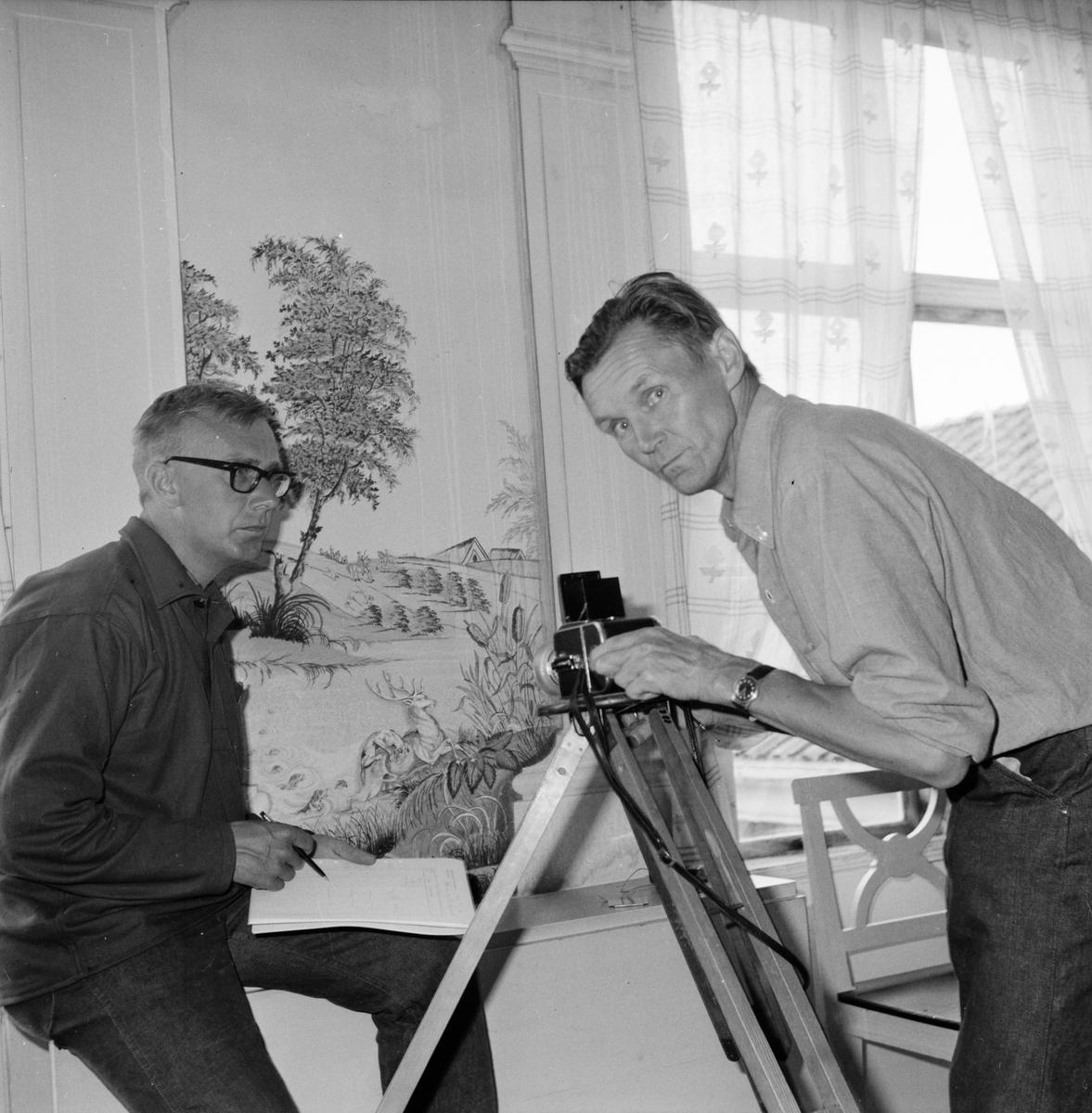 Inventering av måleri i Wallins-gården 20/6-1967