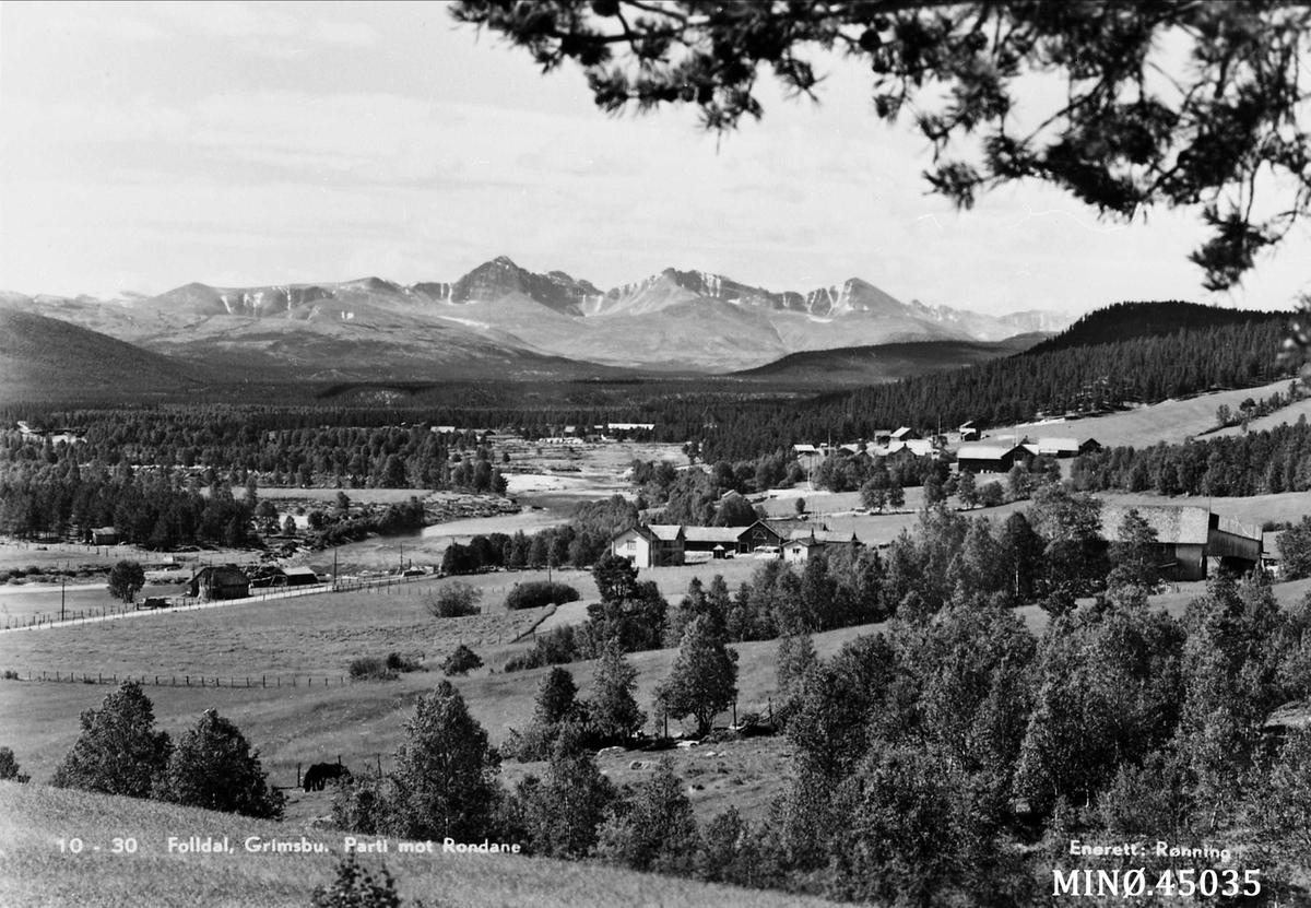 Utsikt mot Rondane fra Folldal, Grimsbu