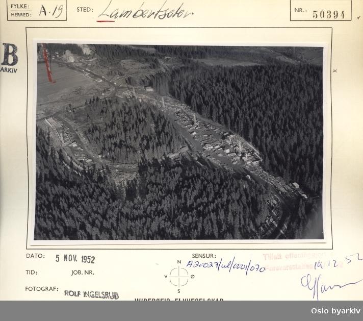 Lambertseter, utbygging av Bergkrystallen, Bergkrystallen borettslag, Feltspatveien (Flyfoto)