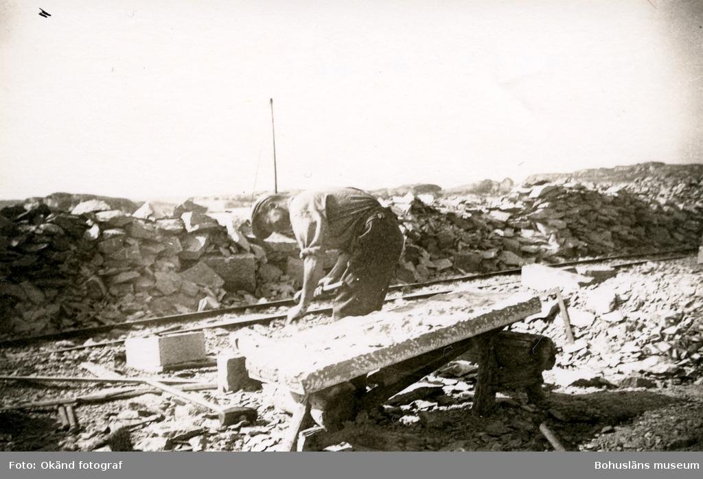 Bearbetning av granitblock