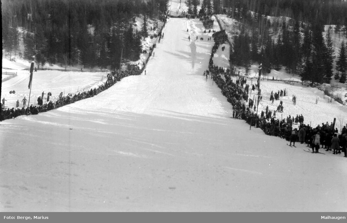 Hovedlandsrennet på Lillehammer i 1927.