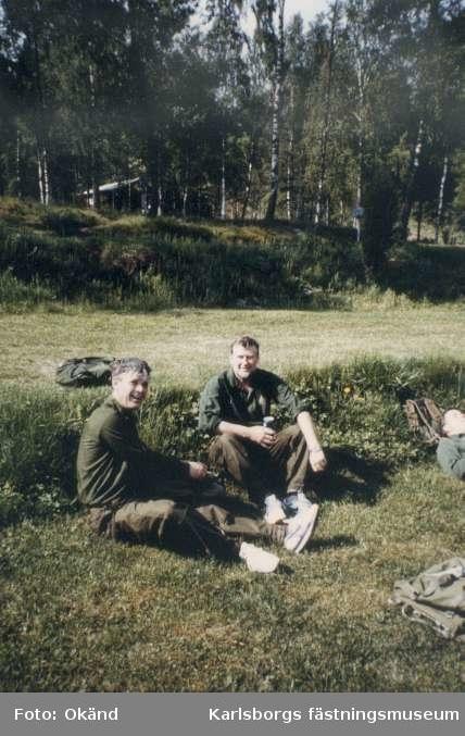 Soldatprov 1989-05-26 för personalen vid förvaltningsledningen och mfd kar. För banläggningen svarade Knut Axelsson och han hade förlagt starten till Tivedstorp och slutmålet var Granvik. Övlt Sven Bredberg, kn Per Zettersten.