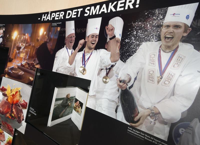 Mesterkokker i Tråkk-utstillingen