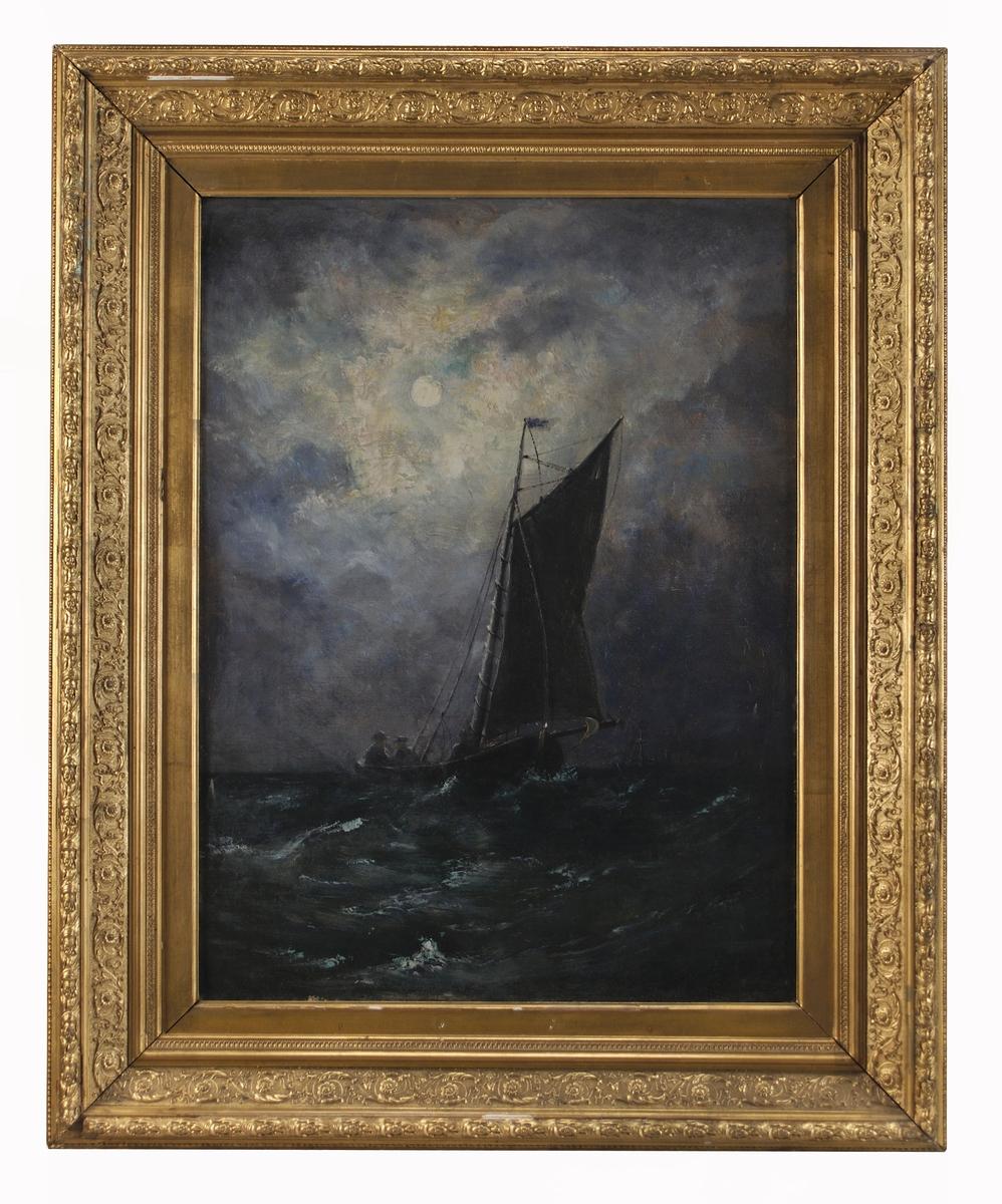 """Oljemålning, """"Marin"""", av Per Wilhelm Cedergren."""