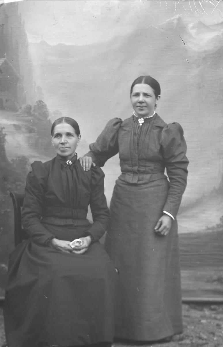 Portrett, helfigue, Marit Klomstadbakken med datter