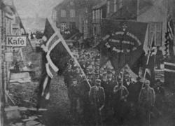 1. mai-demonstrasjon på Fauske, 1897. Dette var første gang