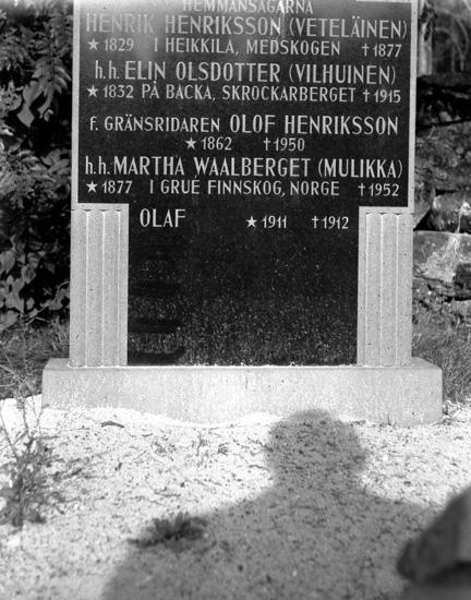 Sigurd Bograngs föräldrars och farföräldrars grav