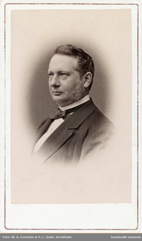 Två porträtt på sågverksägaren och grosshandlaren Friedrich Bünsow.